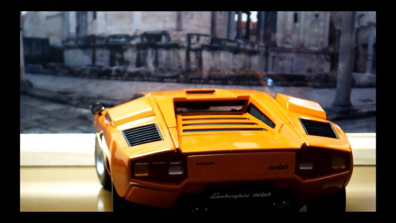 1 18 Kyosho Lamborghini Countach Lp400 Orange Detail