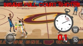 TOP 5 FULL COURT SHOTS IN NBA LIVE MOBILE!!! (INSANE)