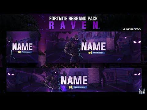 Raven Themed Fortnite Revamp Pack Template Speedart Photoshop
