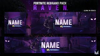 Raven Themed Fortnite Revamp Pack Template + Speedart | Photoshop