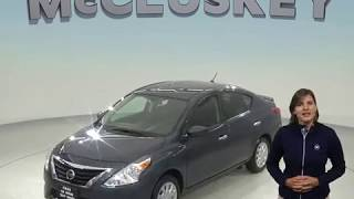 R98541TR Used 2016 Nissan Versa FWD 4D Sedan Blue Test Drive, Review, For Sale -