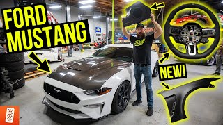 Building and Heavily Modifying a 2020 Ford Mustang GT: Part 5: Subwoofer Install + NEW Fenders!