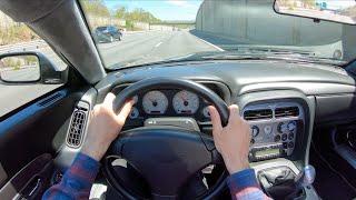 2003 Aston Martin DB AR1 Zagato Manual - POV Test Drive by Tedward (Binaural Audio)