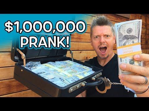$1,000,000 PRANK at FASTFOOD!!
