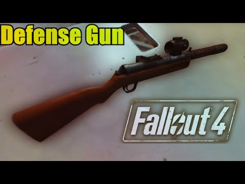 FALLOUT 4 MODS: #15 Defense Gun by Yona