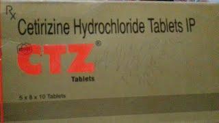 CTZ ( Cetirizine 10mg) tablet की पूरी जानकारी हिंदी में।   Medical dost   
