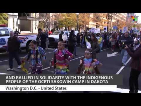 Thousands Protest Dakota Access Pipeline in Washington