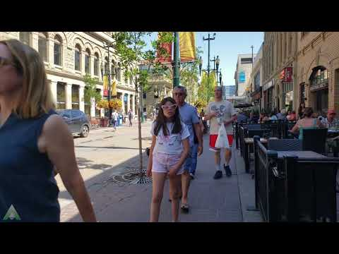 Walk Here: Calgary, Alberta - Canada - Summer 2019 in 4K / UHD