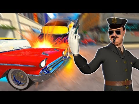 Traffic Cop Caught Causing TRAFFIC ACCIDENTS and DANCING About It! - Traffic Cop VR Gameplay