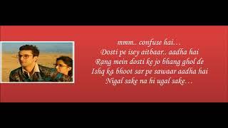 Ullu Ka Pattha Lyrics Video__Jagga Jasoos