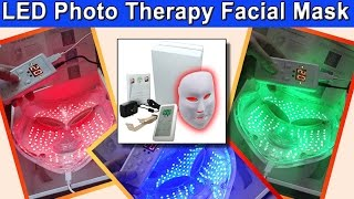 Pro-Nu Photon 3 in 1 Red/Blue/Green LED Photo Rejuvenation Light Therapy Mask Review