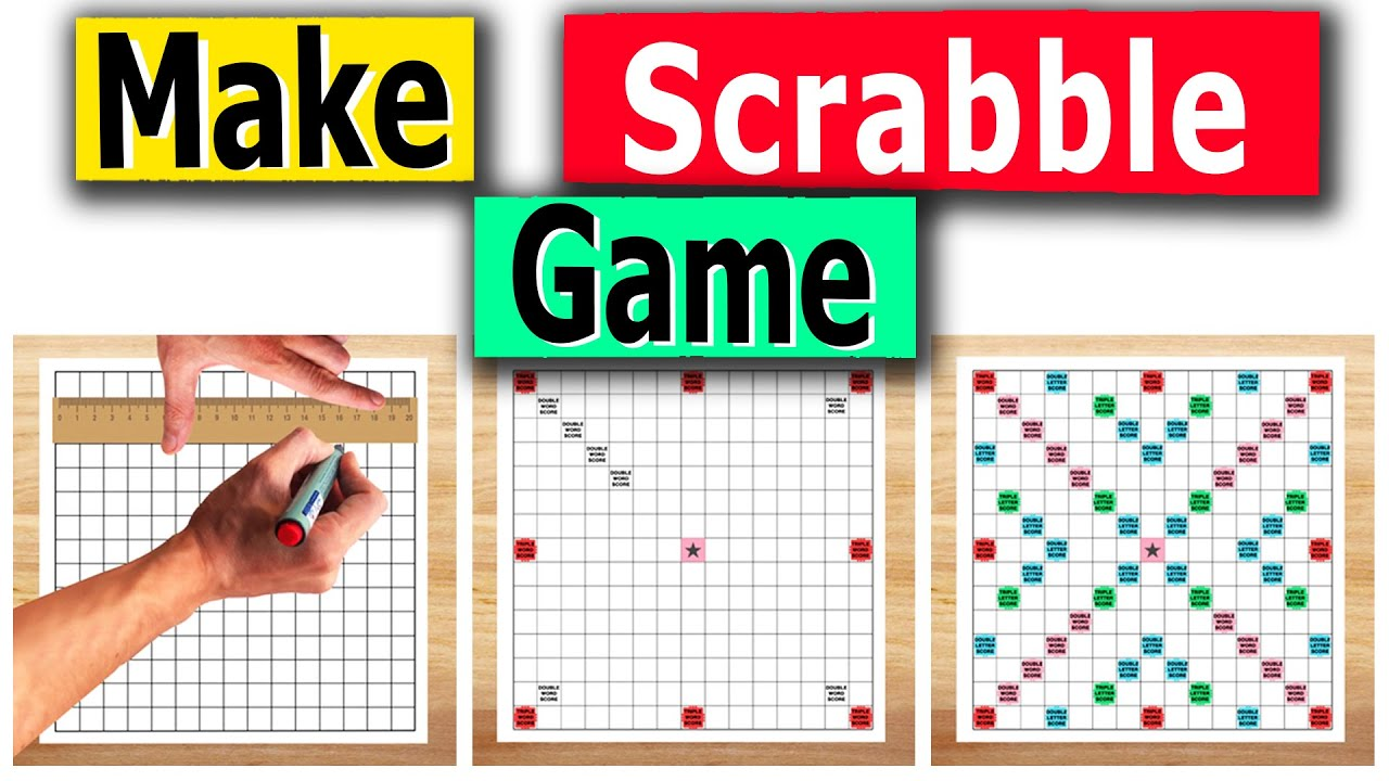 How To Draw Scrabble Board Make Scrabble Game At Home Scrabble Game Youtube