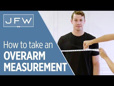 Overarm Measurement For Tuxedo And Suit Rentals