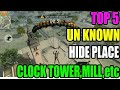 Top 5 hide place in Free fire||clock tower hide palce || Run gaming