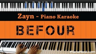 zayn befour piano karaoke sing along cover with lyrics