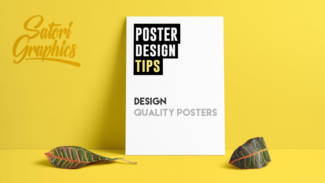 How To Design A Quality Poster Designing Tips