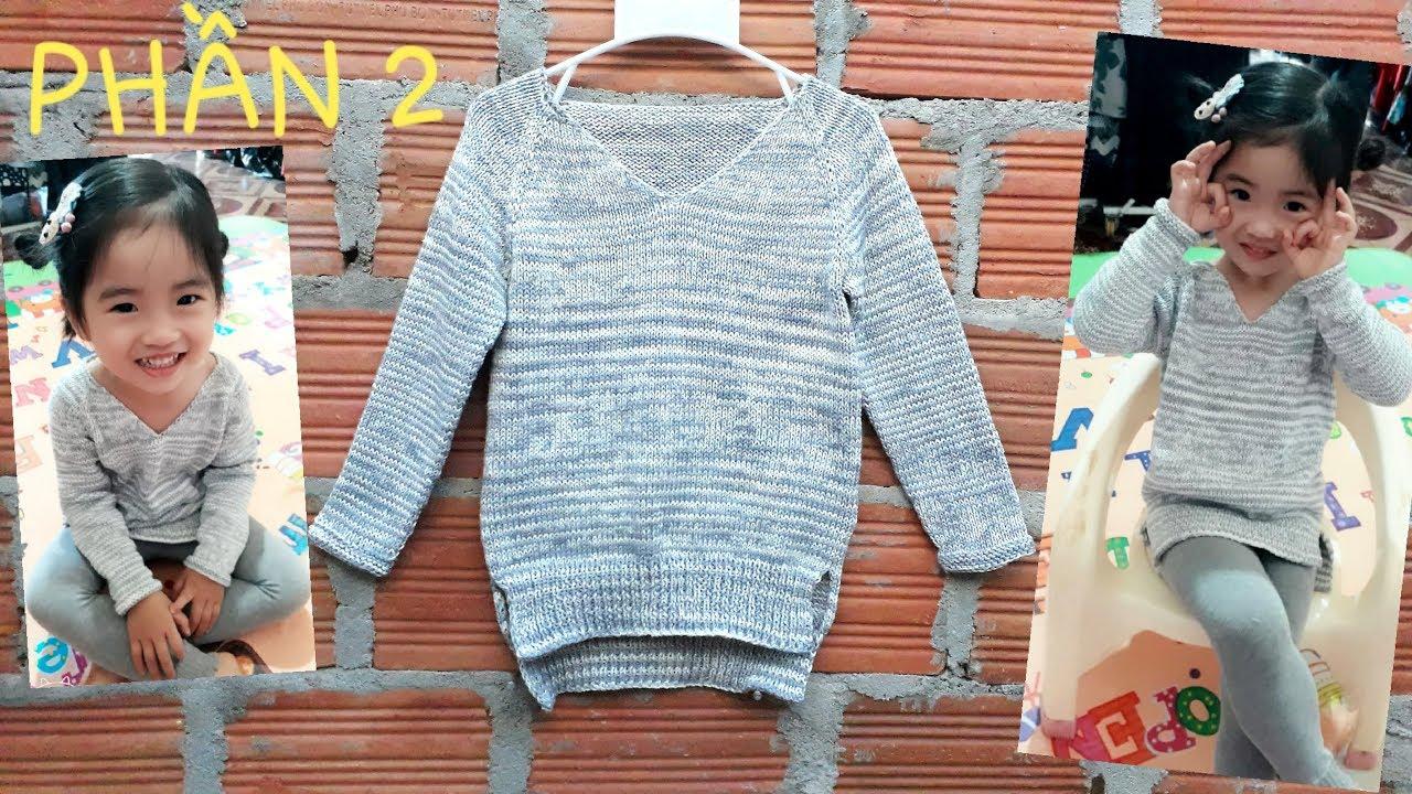 Phần 2- Đan Áo Len Cổ Trái Tim / Knit A V-neck Sweater – Part 2
