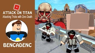 ROBLOX ATTACK ON TITAN | DOWNFALL STORY MODE | ATTACKING TRICKS AND ACTIONS WITH ZERO DEATH