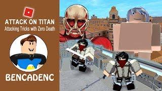 ROBLOX ATTACK AUF TITAN | DOWNFALL STORY-MODUS | ANGRIFF AUF TRICKS UND AKTIONEN MIT NULL TOD