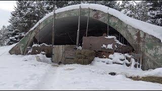 vojni hangari sjenice i sjenike ovce na minus 22