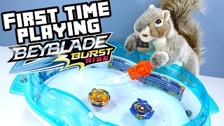 Beyblade Burst Rise Toys - My First Time Playing! Hasbro
