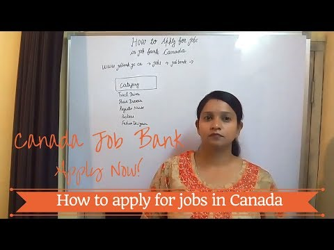 Canada Job Bank: How to apply for jobs in Canada - Apply Now!