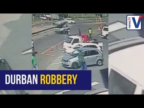 WATCH: Dramatic footage of armed robbery in Durban