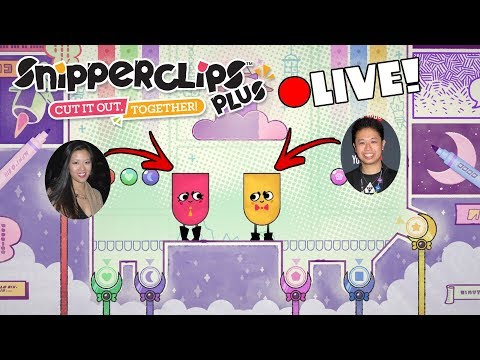 🔴[LIVE] Snipperclips Plus - Cut It Out, Together! PREMIERE [Nintendo Switch]