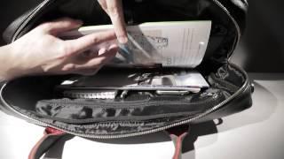видео Деловая сумка для документов BRIALDI Parma (Парма) brown
