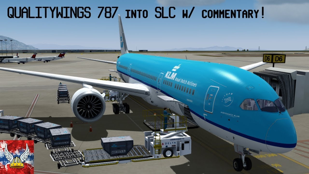 | P3Dv4 2 | Qualitywings 787-9 landing SLC with commentary! |