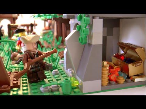 Moc lego pirates sur une le de cannibales youtube - Ile pirate lego ...