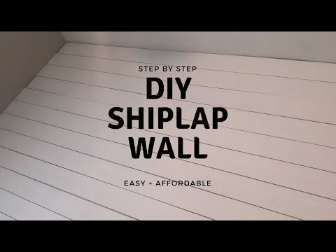 DIY SHIPLAP WALL | EASY + AFFORDABLE WAY-Step by step