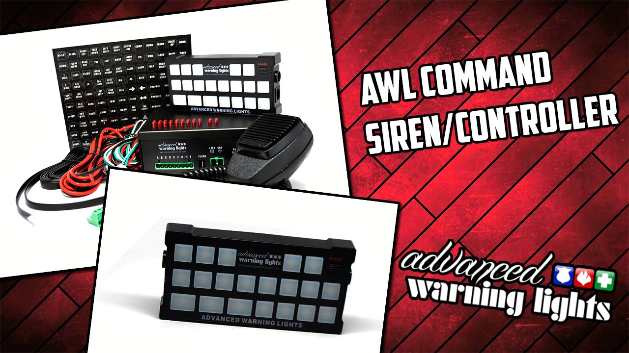 awl command siren controller [ 1280 x 720 Pixel ]