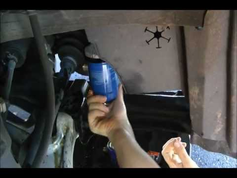 How To Unscrew And Replace A Stuck Oil Filter Youtube