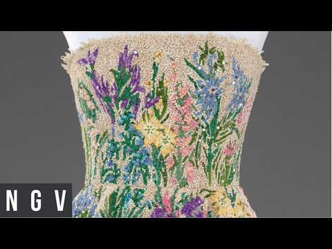 THE HOUSE OF DIOR AT NGV making Essence d'Herbier in Dior At