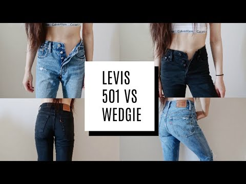 LEVIS 501 VS WEDGIE-FIT COMPARISON