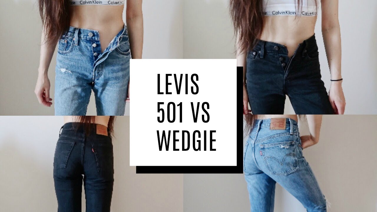 6acfbdb792 LEVIS 501 VS WEDGIE-FIT COMPARISON - YouTube