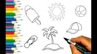 Imprima e pinte o Verão | Desenhos para colorir