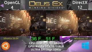 In this video I take a focused look at the Linux port of Deus Ex Mankind Divided from a technical and performance aspect Timeline links 1 Intro 000 2 Denuvo