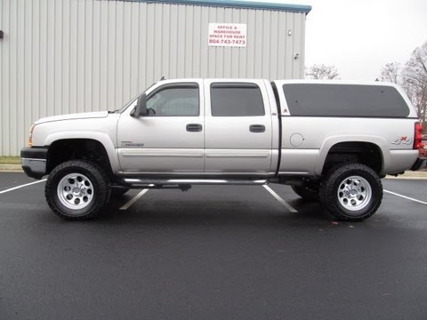 2006 chevy silverado 2500 diesel lifted truck for sale youtube. Black Bedroom Furniture Sets. Home Design Ideas