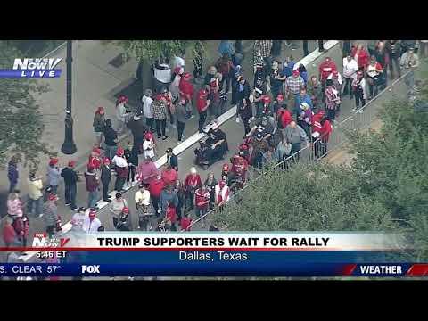 MASSIVE CROWD: President Trump Rally in Dallas, Texas