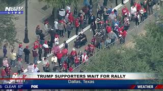 MASSIVE CROWD: President Trump Rally in Dallas, Texas
