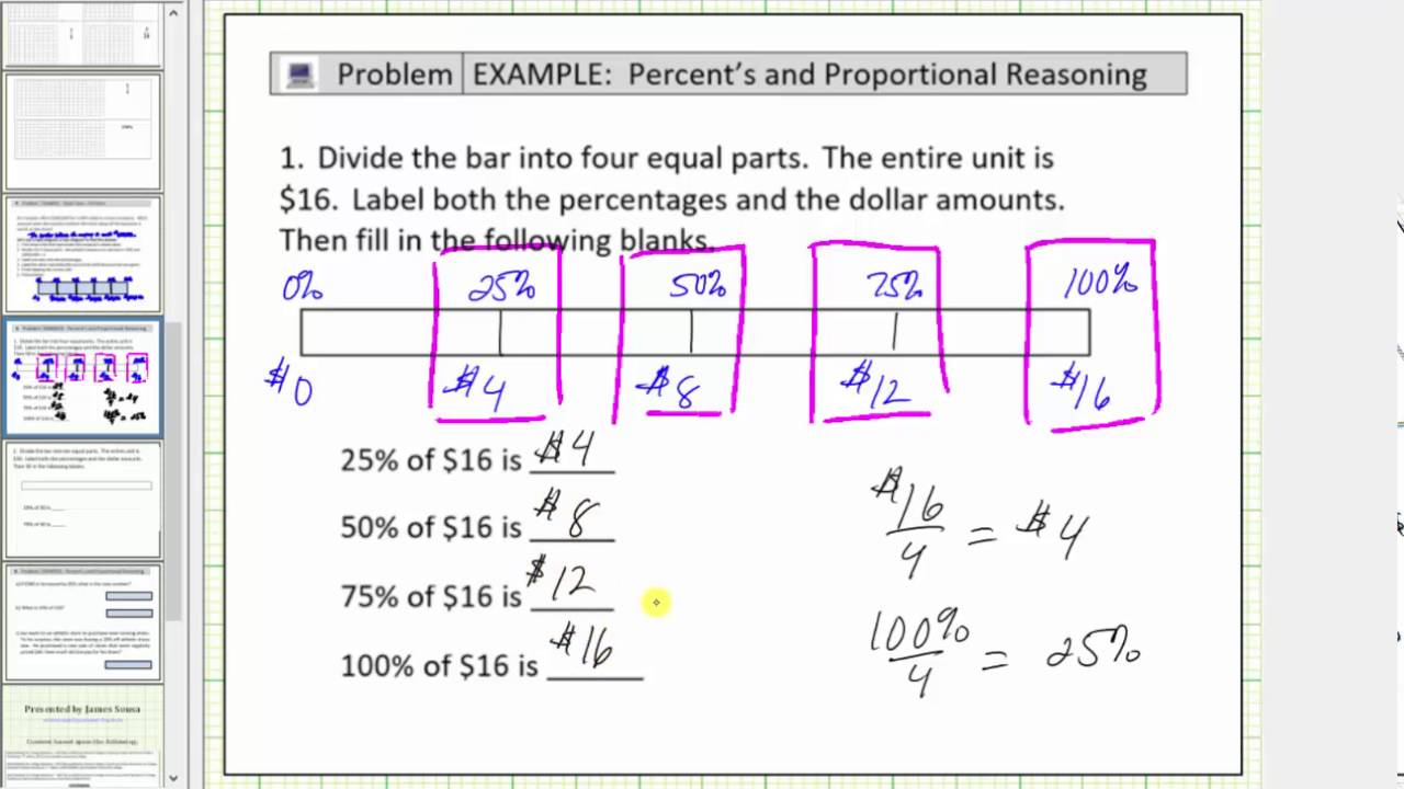 hight resolution of solve basic percent problems using a tape diagram bar diagram