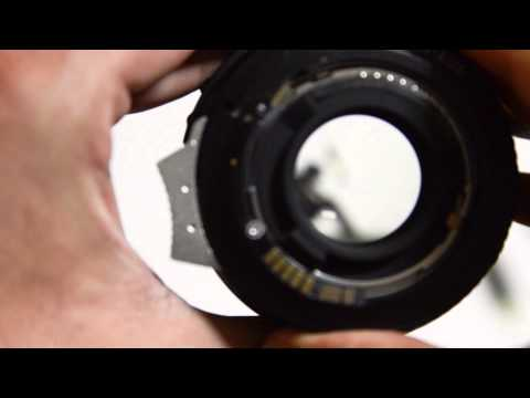 Nikon G lens to Canon EOS EF mount adapter ring with Aperture control
