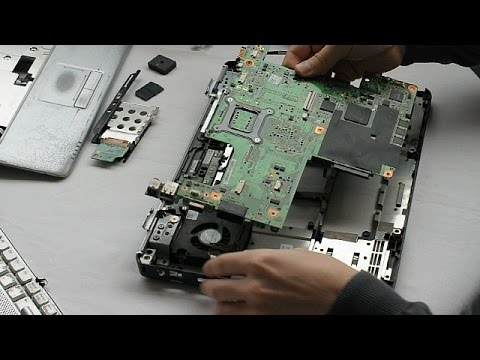 DELL Inspiron 1525 Laptop Disassembly video, take a part, how to open