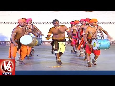 Cultural Programs Attract People | Telangana State Formation Day Celebrations At Shilparamam | V6
