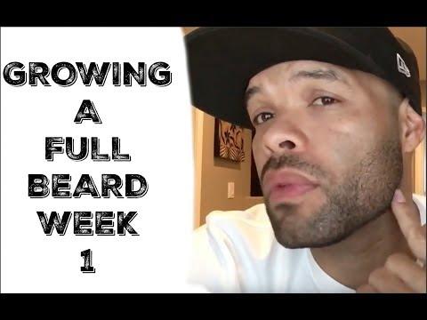 How to grow a Full and thicker Beard (WEEK 1) Beard growth