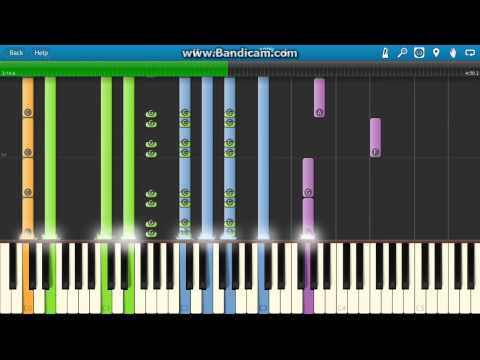 Muse - Invincible Piano Tutorial - How to play - Synthesia