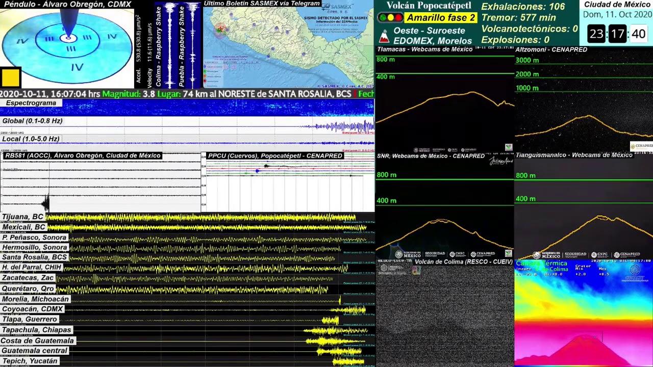 Sismo M5.5 en Mapastepec, Chiapas (Desde el Monitor)