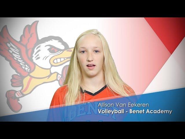 NSW Take 5 // Allison Van Eekeren - Benet Academy